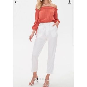 Forever 21 Cuffed Drawstring Pants